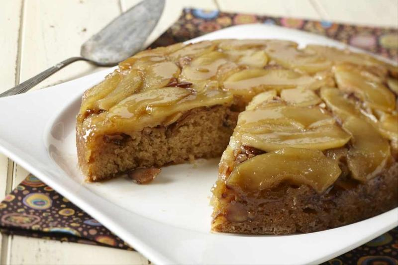 Apple Almond Upside Down Cake