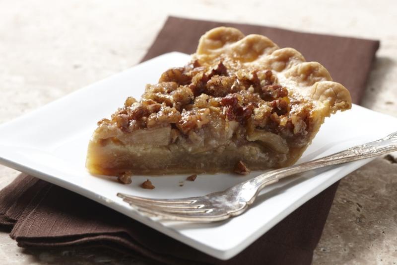 Apple Brandy Praline Pie