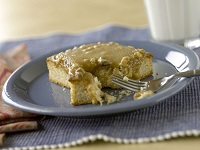 Brown Sugar Cake with Caramel Nut Topping