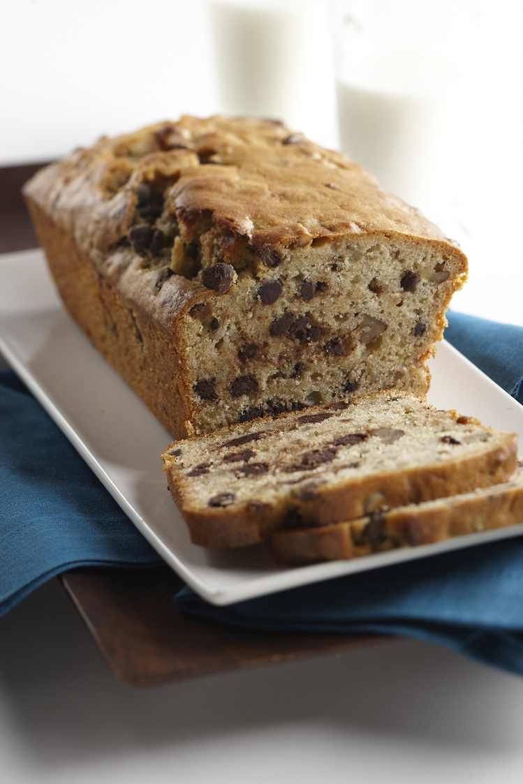 Lite Banana Bread with Chocolate Chips
