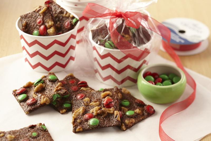 Nutty Brownie Bark with M & M's<sup>®</sup>