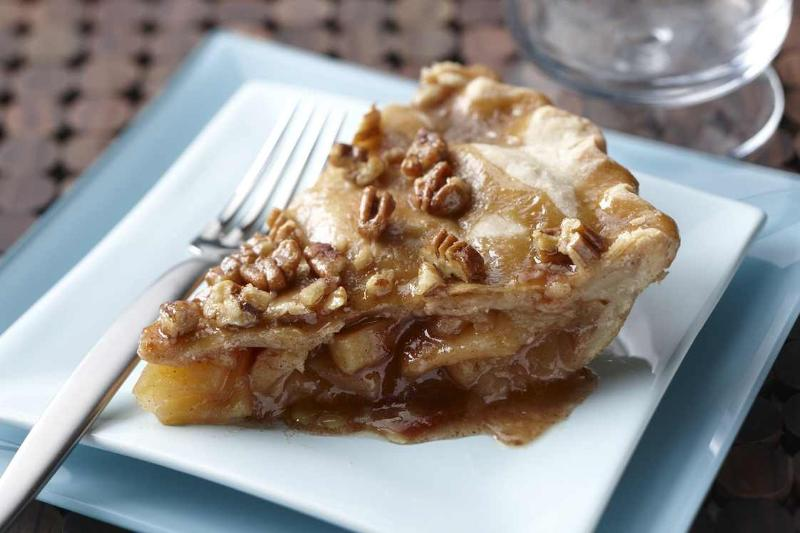 Caramel Glazed Apple Pie