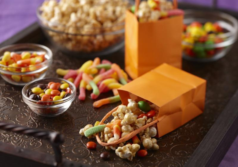 Caramel Corn Halloween Treat Bags