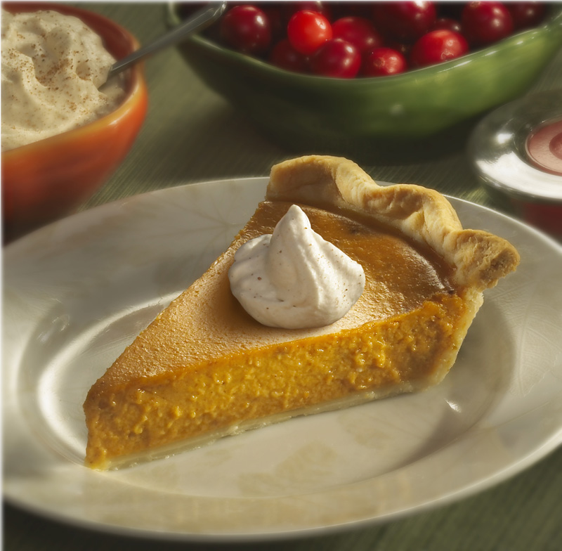 Classic Pumpkin Pie with Cinnamon and Spice Whipped Cream