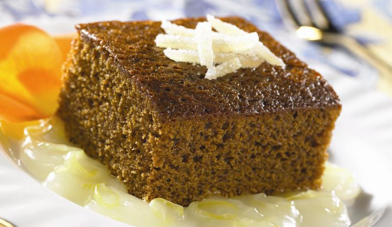 Gingerbread Cake with Lemon Sauce