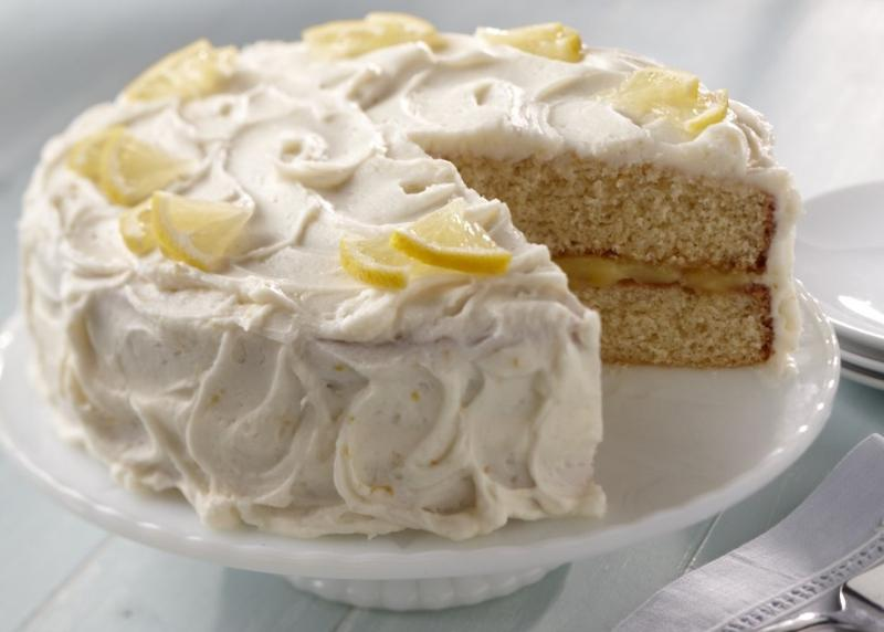Lemon Layer Cake with Lemon Filling and Frosting