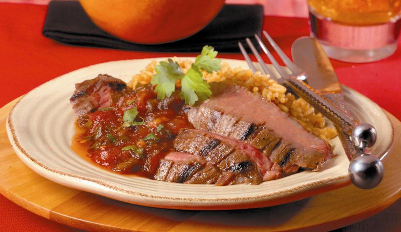 Marinated Steak with Salsa Glaze