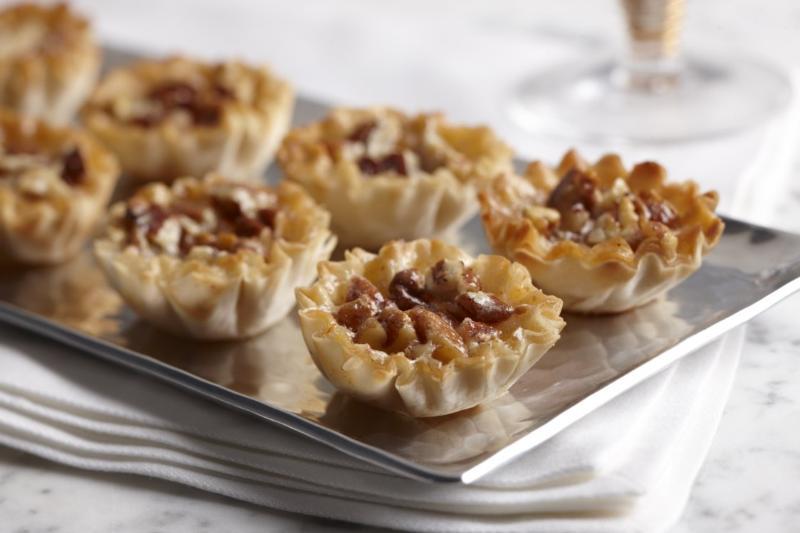 Mini Pecan Pies in Phyllo