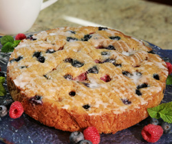 Low Fat Berry Coffee Cake